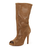 Sila Perforated Slouchy Boot