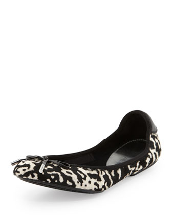 City Calf-Hair Ballet Flat