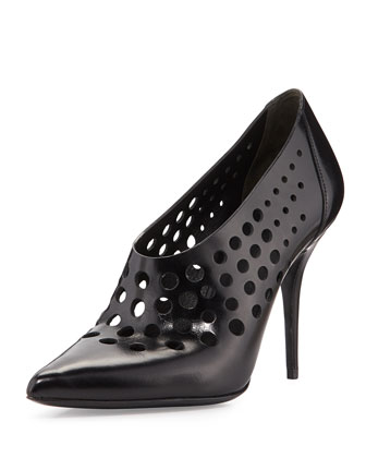 Magdalena Perforated Bootie, Black
