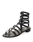 Caesar Stretch Gladiator Sandal, Black