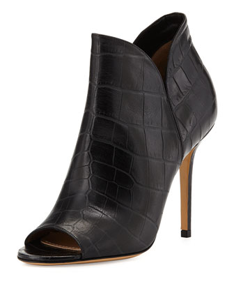 Narrer Glass Croc-Print Bootie