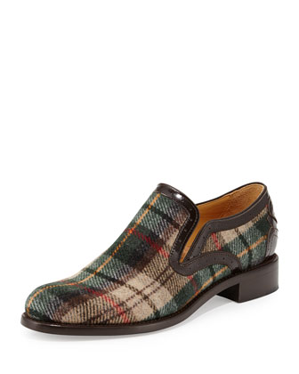 Tartan Plaid Wool Loafer