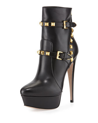 Studded Harness Platform Boot