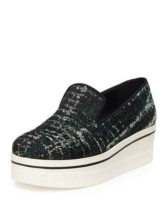 Tie Dye Jacquard Skate Shoe, Forest/Black