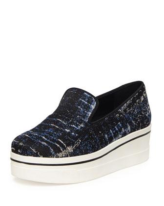 Tie Dye Jacquard Skate Shoe, Cerulean/Black