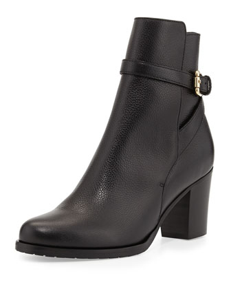 Aleena Leather Ankle Boot, Black