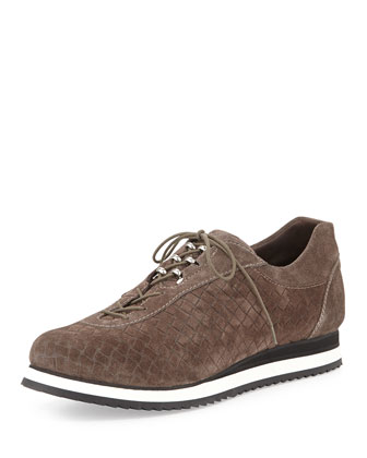 Relay Suede Lace-Up Sneaker, Seal