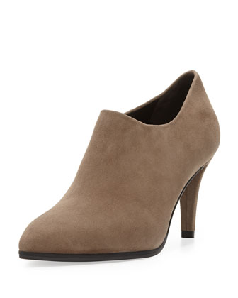 Standin Suede Ankle Boot, Praline