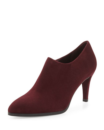 Standin Suede Ankle Boot, Bordeaux (Made to Order)