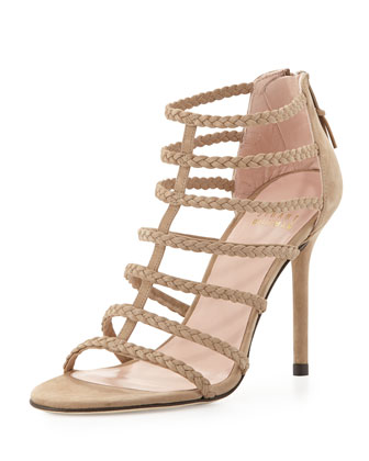 Truelove Strappy Leather Sandal, Tan