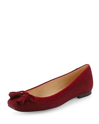 Tulipbow Goosebump Ballerina Flat, Scarlet