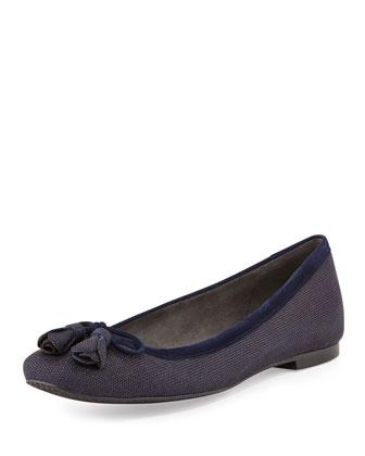 Tulipbow Goosebump Ballerina Flat, Nice Blue