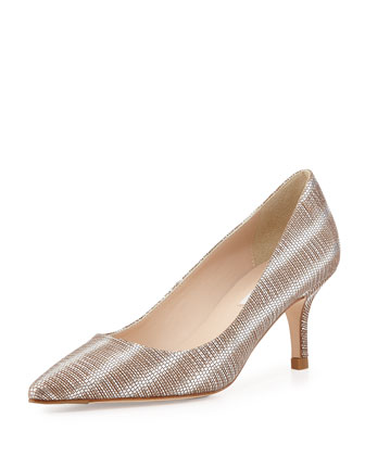 Florisa Textured Metallic Pump, Silver