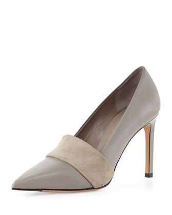 Carmel Suede-Band Pump, Woodsmoke