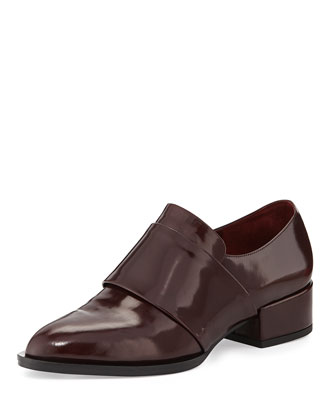 Yaeger Leather Point-Toe Loafer, Oxblood