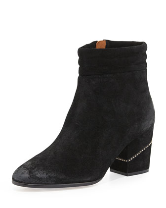 Benson Suede Ankle Boot, Black