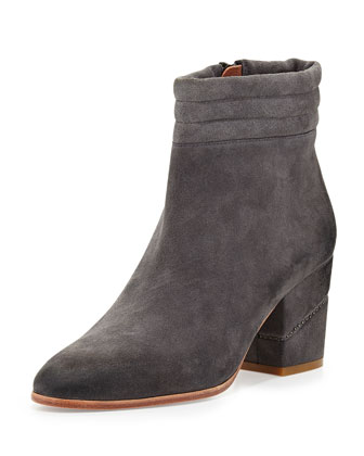 Benson Suede Ankle Boot, Charcoal
