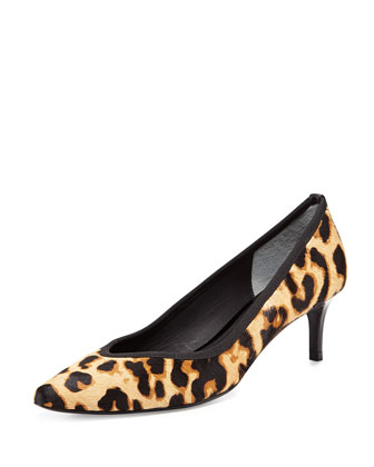 Faline Too Leopard-Print Calf Hair Pump