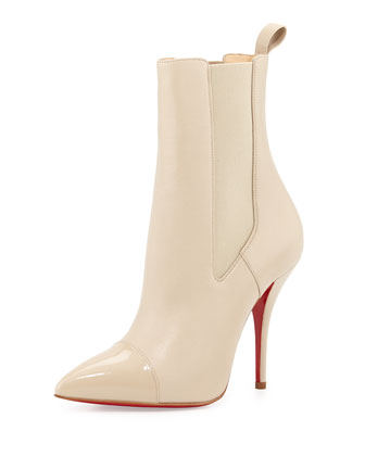 Tucson Cap-Toe Red Sole Bootie, Nude