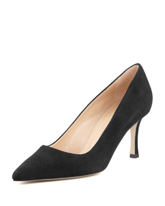 BB Suede 70mm Pump, Charcoal