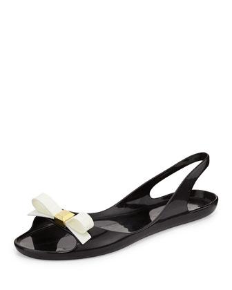 ode slingback jelly sandal