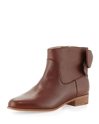 prospect bow-back ankle boot, luggage