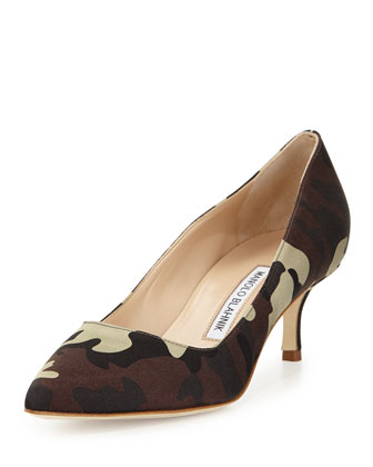 BB Satin 50mm Pump, Camo (Made to Order)