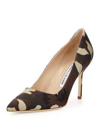 BB Satin 90mm Pump, Camo (Made to Order)