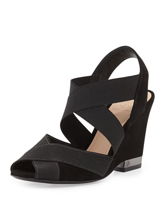 Debbie Crisscross Wedge Sandal