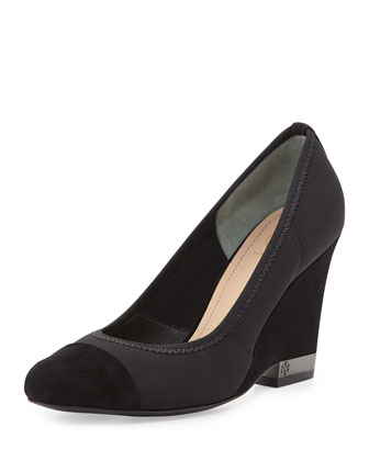 Cadence Cap-Toe Stretch Wedge
