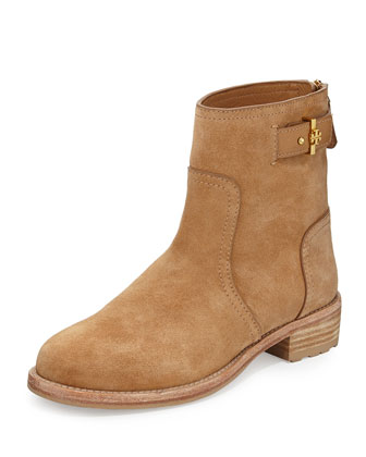 Selena Suede Ankle Boot, Tuscan Tan