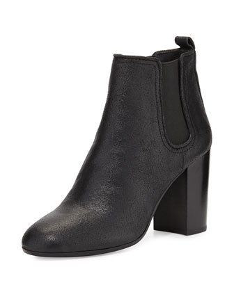 Margaux Gored Ankle Boot, Black