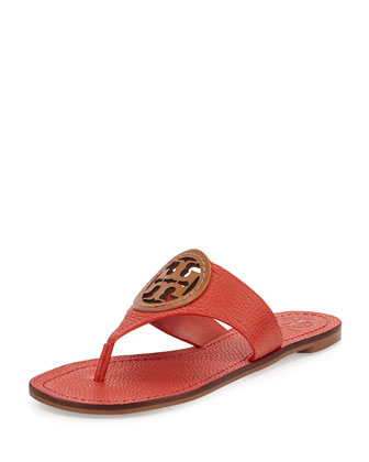 Louisa Logo Thong Sandal, Jasper