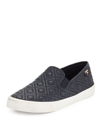 Jessie Quilted Slip-on Sneaker, Bright Navy