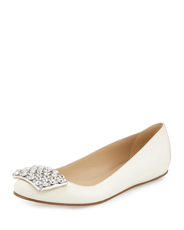 brilliant jewel toe ballerina flat, cream   kate spade new york   Cream (35.