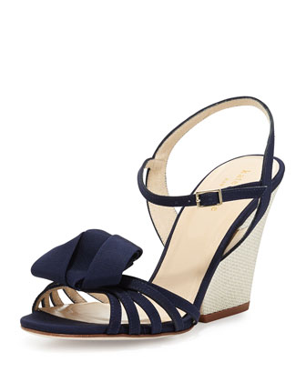 ivana grosgrain wedge sandal