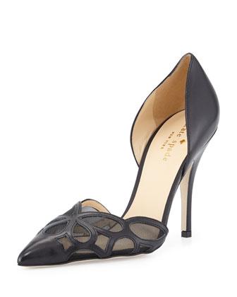 lauretta patent d'orsay pump, black