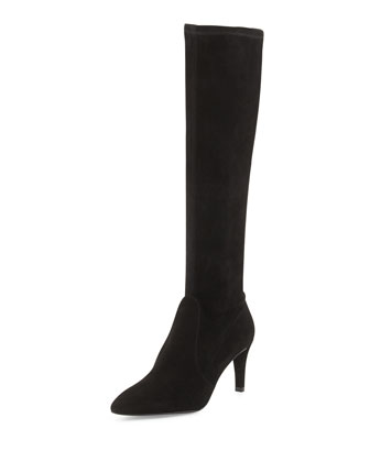 Coolboot Stretch Suede Boot, Black