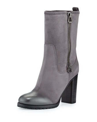 Dawson Suede Side-Zip Boot, Light Quartz