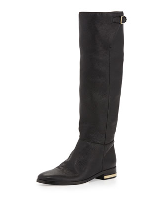 Soft Slouchy Knee Boot, Black