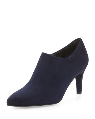 Standin Suede Bootie, Nice Blue (Made to Order)
