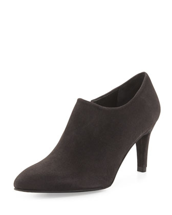 Standin Suede Bootie, Anthracite (Made to Order)