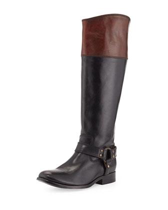 Melissa Bicolor Zip Harness Boot