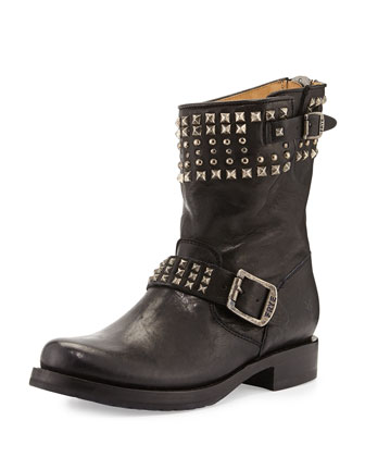 Veronica Studded Biker Boot