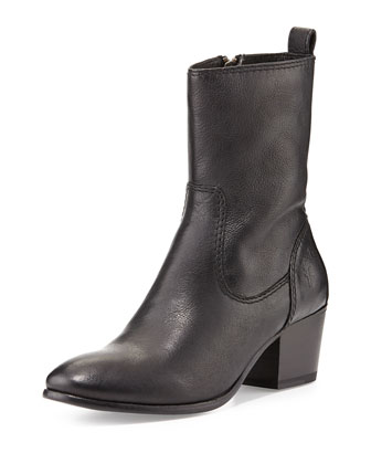 Courtney Leather Short Boot