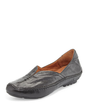 Soleful Split-Front Flat, Black