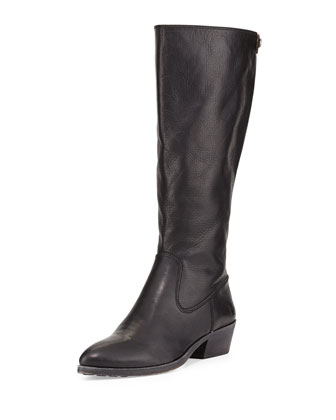 Ruby Tall Leather Zip Boot