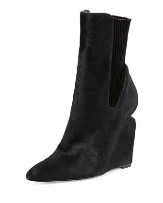 Andie Calf Hair Wedge Boot