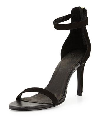 Abbott Suede Ankle-Wrap Sandal