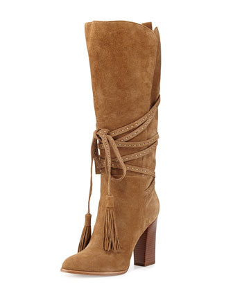 Jessa Wrap-Around Suede Boot